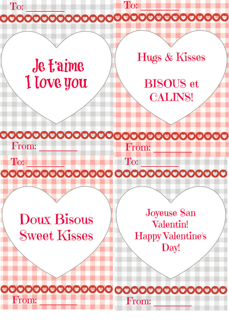 ValentinesDayFrenchPrintables LadydeeLG – French Valentines Cards