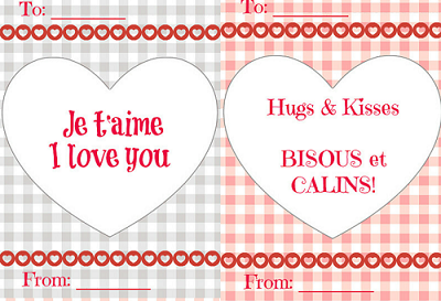 Free French Valentines Day Cards for Kids – French Valentines Cards