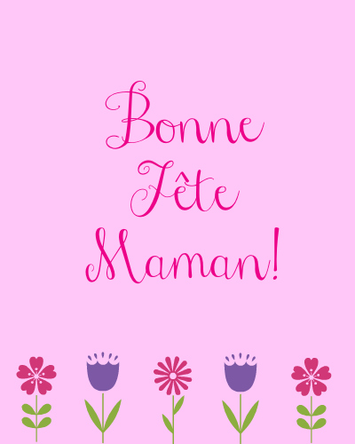 Free French Mother's Day Cards {printables}