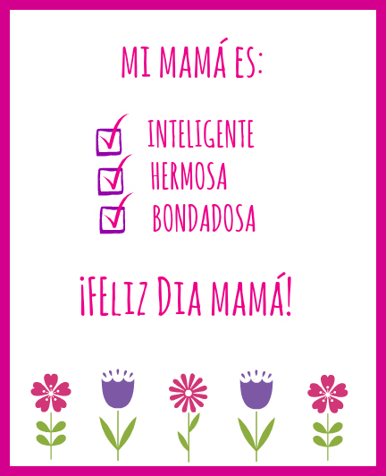 Free Printable Mother's Day Cards In Spanish And English
