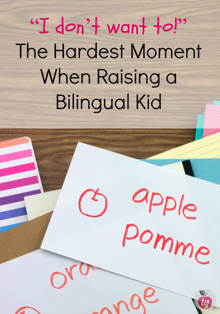 """The hardest moment when raising a bilingual kid is when your child says """"I don't want to!"""" (Speak another language). Here is my experience and some tips."""
