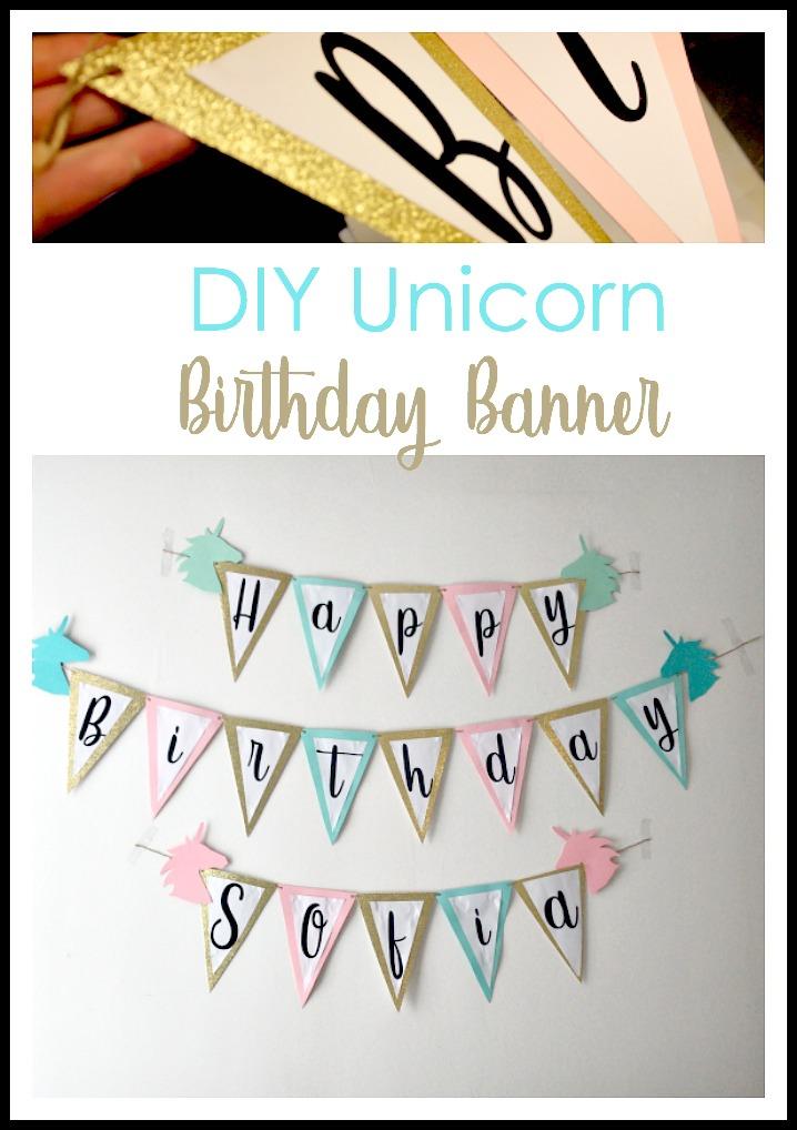 DIY Unicorn birthday banner tutorial