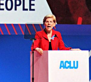 Elizabeth Warren at ACLU Conference 2018-women in politics